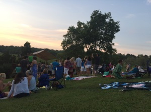 Wine and music at Jefferson Vineyards.